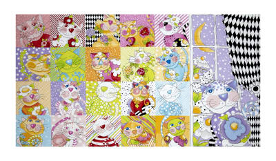 "Loralie Designs Calico Cats 24"" Panel Multi"