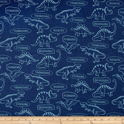 Kokka Trefle Ecole Big Dinosaur Oxford Navy