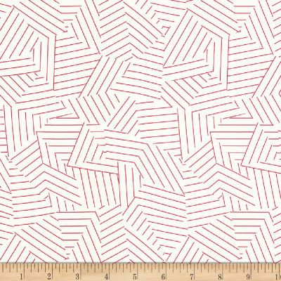 Schumacher Deconstructed Stripe 100% Linen Red