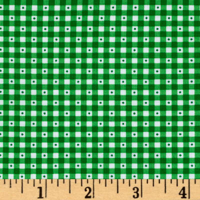QT Fabrics Sorbet Essentials Gingham Green