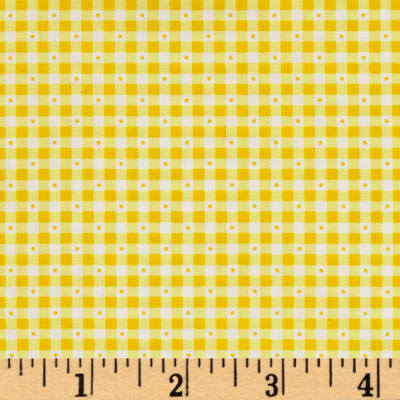QT Fabrics Sorbet Essentials Gingham Yellow