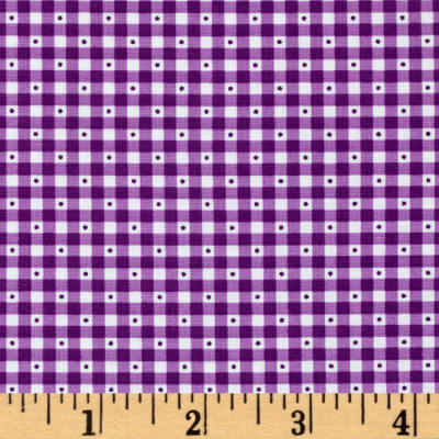 QT Fabrics Sorbet Essentials Gingham Purple