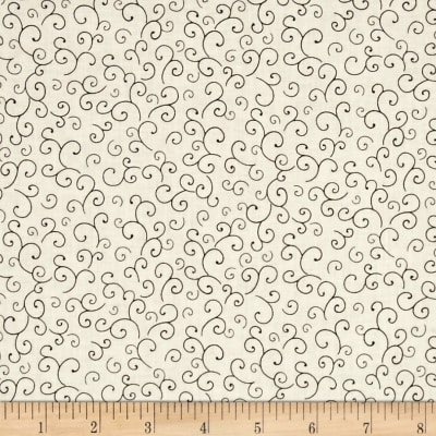 QT Fabrics Harrison Park Scroll Beige/Black