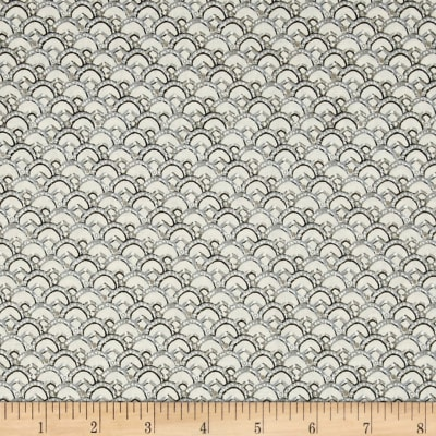 QT Fabrics Winter Garden Scalloped Geo Light Gray