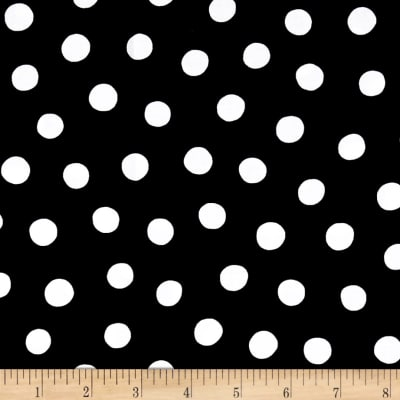 QT Fabrics Brooke Dots Black/White