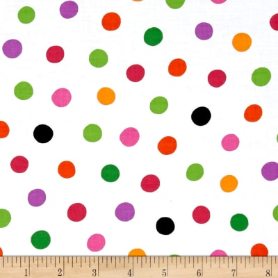 Quilting Treasures Brooke Dots White/Multi