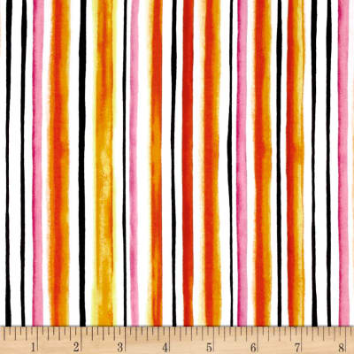 QT Fabrics Brooke Watercolor Stripe Orange
