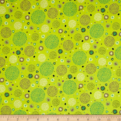 Ink & Arrow Hayden Dotted Circles Light Green