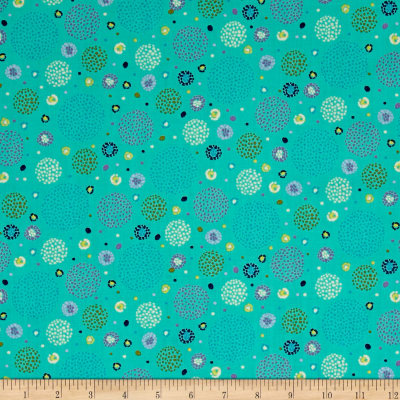 Ink & Arrow Hayden Dotted Circles Aqua