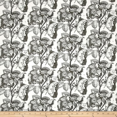 QT Fabrics Hatters Tea Party Antique Rose Dark Gray