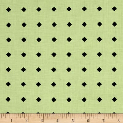 QT Fabrics Hatters Tea Party Diamond Dot Light Green