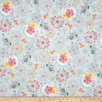 Quilting Treasures Confetti Blossoms Confetti Blossoms & Fan Florals Lt Seafoam