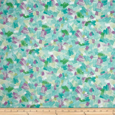Quilting Treasures Confetti Blossoms Brushstrokes Seafoam