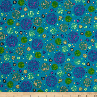 Ink & Arrow Ashtyn Dotted Circles Teal