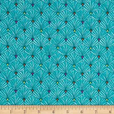 Ink & Arrow Ashtyn Fan Scallops Lt. Teal