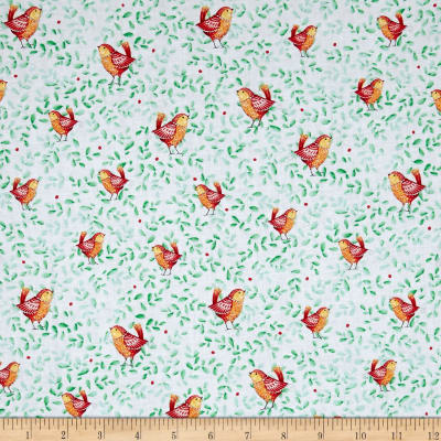 QT Fabrics Love Grows Here Birds Green