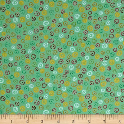 QT Fabrics Love Grows Here Circle Geo Green