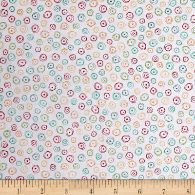 QT Fabrics Love Grows Here Circle Geo White