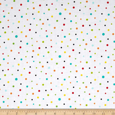 QT Fabrics On The Road Dots White