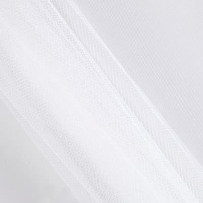 "54"" Apparel Grade Tulle Silk White (Bolt, 50 Yard)"