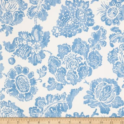 Fabricut 1081e Giselle Wallpaper S0510 Blue White (Triple Roll)