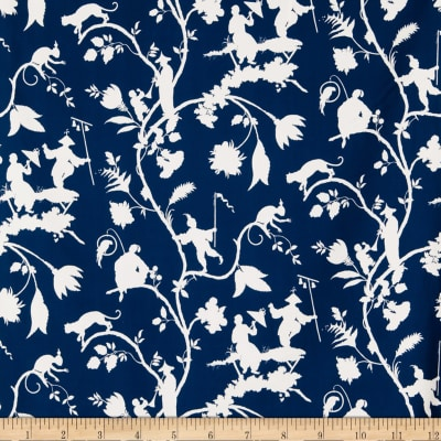 Fabricut 1090a Cathay Pastora S0510 Blue & White