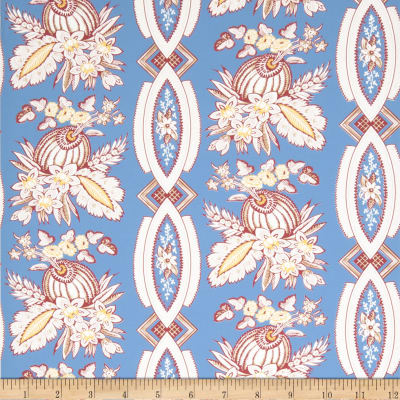 Fabricut 2670e Christophe Wallpaper S0510 French Blue (Triple Roll)