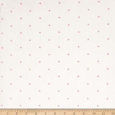 Fabricut 2674e Juniper Stripe Wallpaper S0330 Rose (Triple Roll)