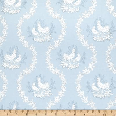 Fabricut 2680e Durand Ii Wallpaper S0510 Blue (Triple Roll)