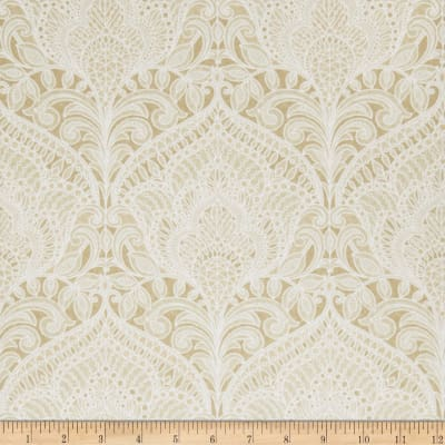 Fabricut 75008w Adelina Wallpaper Parchment 06 (Double Roll)