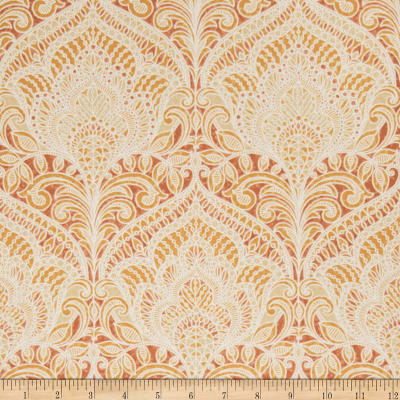 Fabricut 75008w Adelina Wallpaper Pumpkin 07 (Double Roll)