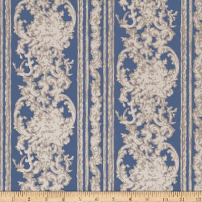 Fabricut 75010w Fellisimo Wallpaper Blue Topaz 02 (Double Roll)