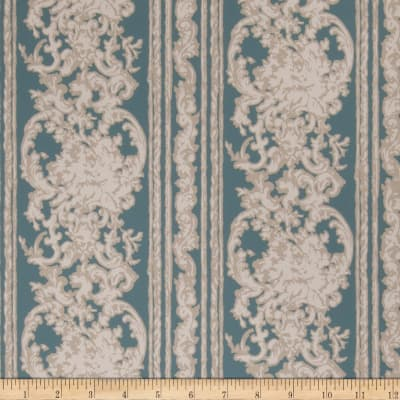Fabricut 75010w Fellisimo Wallpaper Teal 06 (Double Roll)