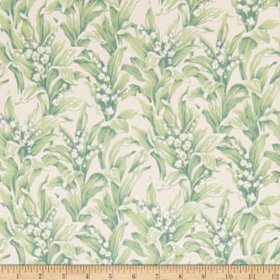 Fabricut 75014w Lily Wallpaper Spearmint 06 (Double Roll)