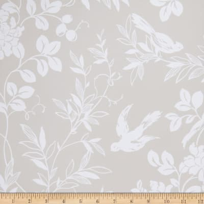 Fabricut 75028w Bird Song Wallpaper Grey 02 (Double Roll)