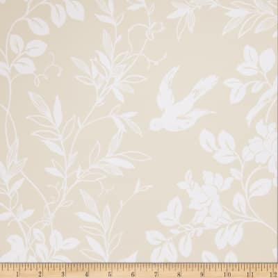 Fabricut 75028w Bird Song Wallpaper Parchment 04 (Double Roll)