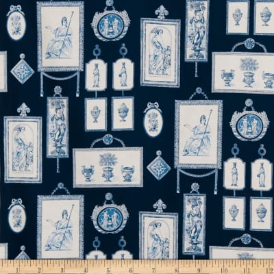 Fabricut 8486a Neoclassical P S0540 Periwinkle