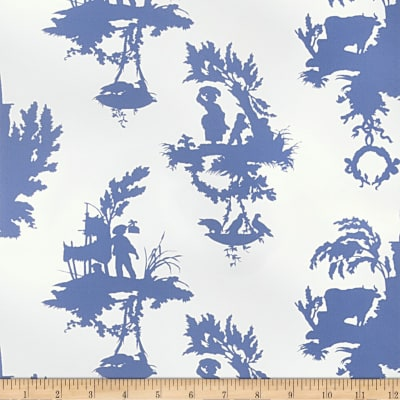 Fabricut Banfield Wallpaper French Blue (Double Roll)