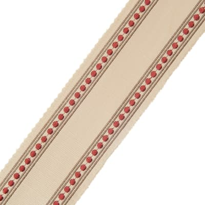 "French General 2.75"" Bardot Trim Rouge"