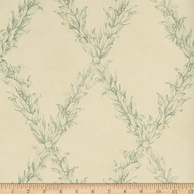 Charles Faudree Beauclaire Trellis Wallpaper Teal (Double Roll)
