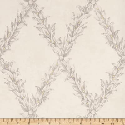 Charles Faudree Beauclaire Trellis Wallpaper Grey (Double Roll)