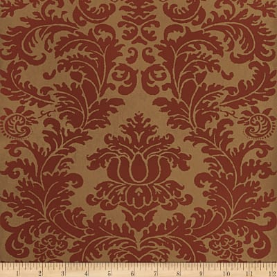 Fabricut Beeton Nonwoven Wallpaper Brick Red (Double Roll)