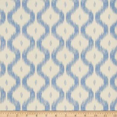Charles Faudree Benoit Ikat Wallpaper China Blue (Double Roll)