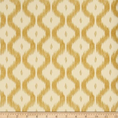 Charles Faudree Benoit Ikat Wallpaper Soft Gold (Double Roll)