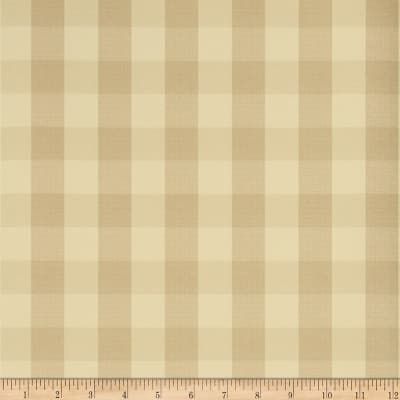 Charles Faudree Biron Check Wallpaper Linen (Double Roll)