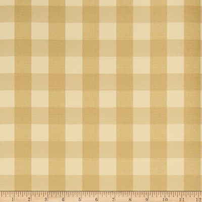 Charles Faudree Biron Check Wallpaper Soft Gold (Double Roll)