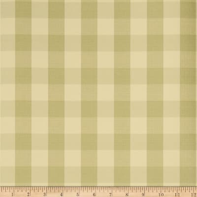 Charles Faudree Biron Check Wallpaper Celery (Double Roll)