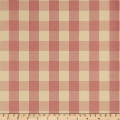 Charles Faudree Biron Check Wallpaper Cranberry (Double Roll)