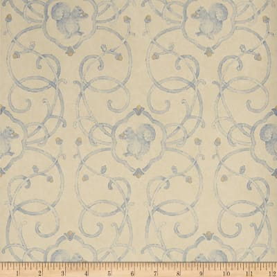 Charles Faudree Cashiers Wallpaper Blue (Double Roll)