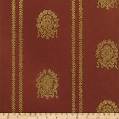 Fabricut Complin Wallpaper Persimmon (Double Roll)